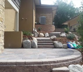 custom brick stone patio landscaping denver