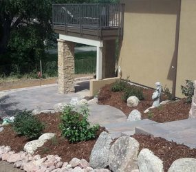 custom brick walkway landscaping denver