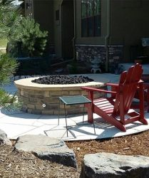patio and firepit landscaping denver