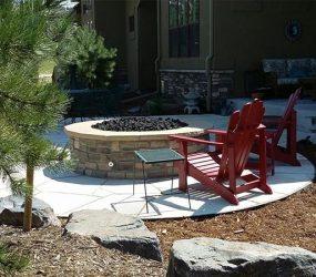 patio and firepit landscaping denver