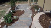 custom walkway landscape design denver