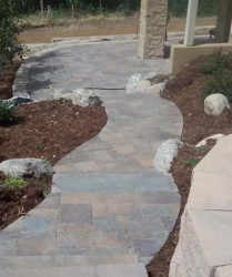 custom walkway landscape design denver