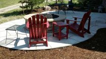 patio and firepit landscape design denver