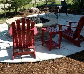 patio and firepit landscape design denver