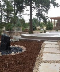 patio and stone walkway landscape contractor denver