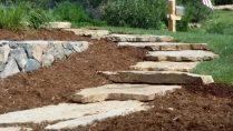 custom landscaping stone walkway