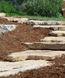 custom landscaping stone walkway