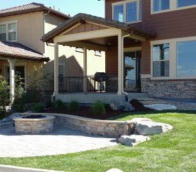 custom landscaping backyard