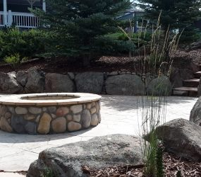custom landscaping fire pit 10
