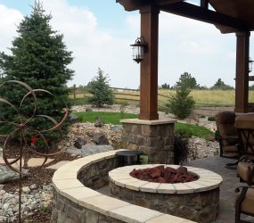 custom landscaping fire pit 9