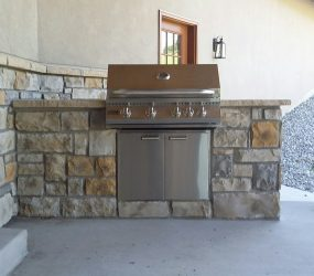 custom landscaping patio grill