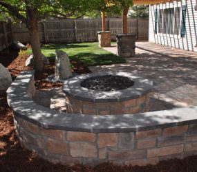 custom landscaping fire pit 7