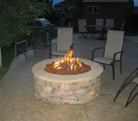 custom landscaping fire pit 6