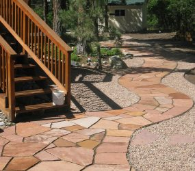 custom landscaping walkway