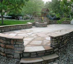 custom landscaping fire pit 5