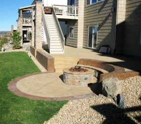 custom landscaping fire pit 4