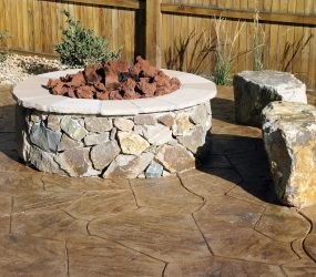 custom landscaping fire pit 2