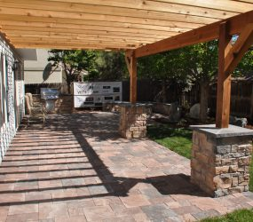 custom landscaping patio